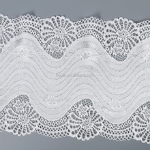 18cm new fashion fancy different types of scallop chantilly border lace trim for bridal
