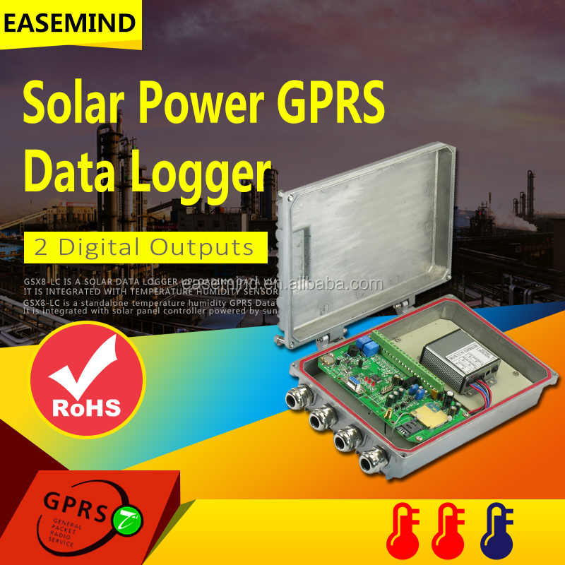 2 Digital Outputs Solar Power GPRS Data Logger for system home