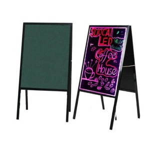 90*43CM double side programmable led light board,stand up street advertising board