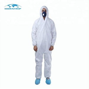 Free Size Unisex Nonwoven Disposable Protective Clothing Medical Coverall For Construction