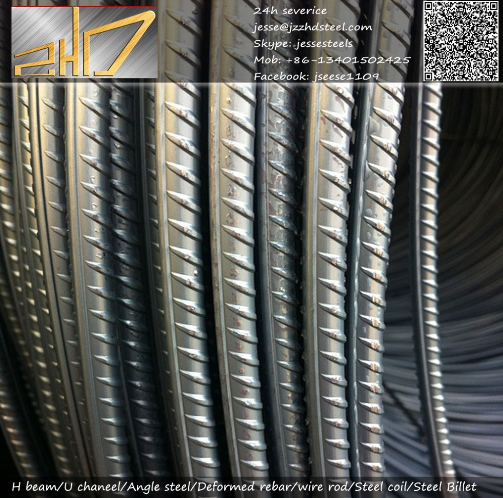 Iron rods construction/concrete metal/building Reinforced Deformed Steel Bar Price /HRB400/HRB500