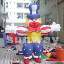 happy inflatable clown costume for adult for promotion or activities