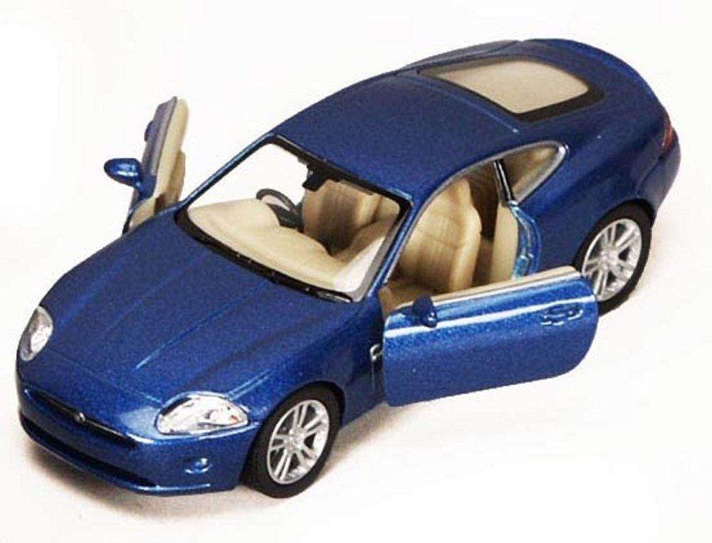 Jaguar XK Coupe, Blue - Kinsmart 5321D - 1/38 scale Diecast Model Toy Car