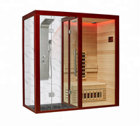 Infrared sauna shower combination for home design