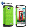 2015 best selling pc+silicone diamond case for lg optimus L70