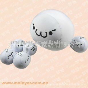 Various face ball shaped microbeads gifts,with 10cm dia and 60g