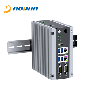 Industrial Low Power Fanless Computer 2 LAN Din Rail Embedded Mini PC