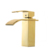 Bathroom basin sink brass gold finish square waterfall golden faucet