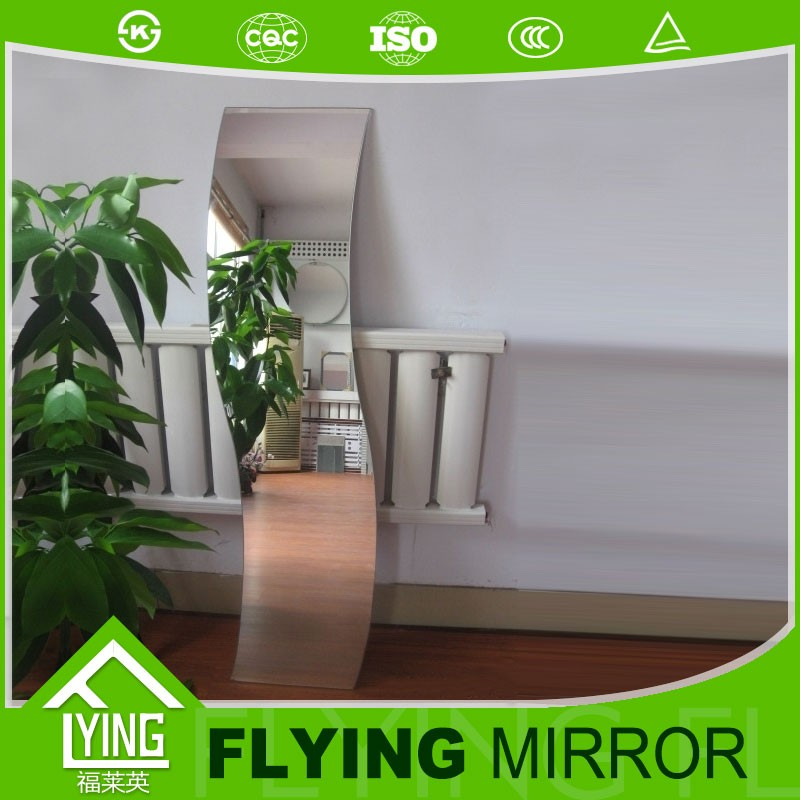 Large clear decorative mirror 3mm dressing sliver mirror cosmetic plastic mirror for export