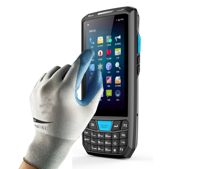 OEM industrial wireless android 2d barcode scanner pda 4G handheld pda data collector terminal with GPS clothing/warehouse pdas