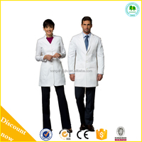 Comfortable feel white lab coats for medical staff made in China