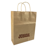 Custom die cut handle paper bag shopping brown kraft paper bag