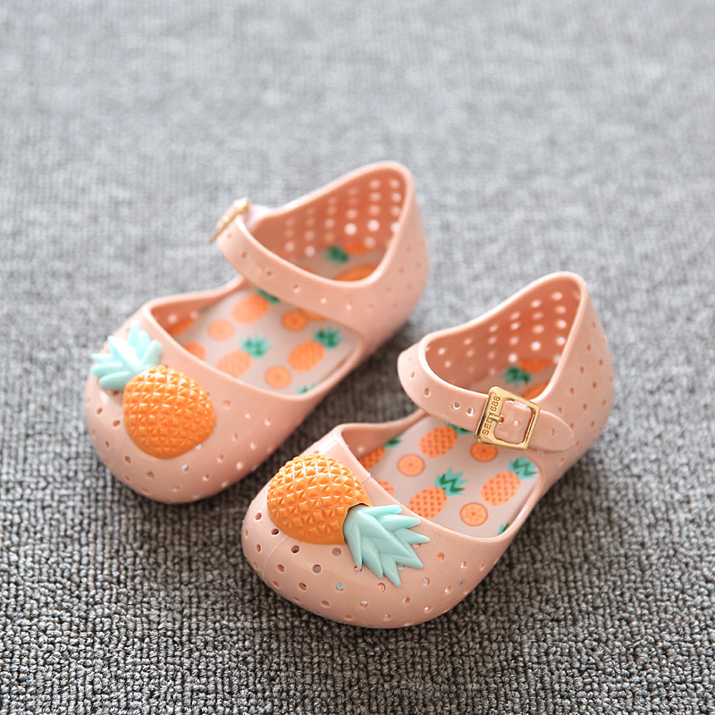 Wholesale Stock Newborn Baby Girl Water Shoes Kids Pink Jelly Shoes