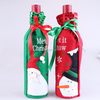Festive Plush Cute snowmen Wine Bottle Cover Bag Banquet Christmas Dinner Party Xmas Table Decor new years supplies