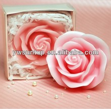 High top wedding scented candle favor rose shaped candle