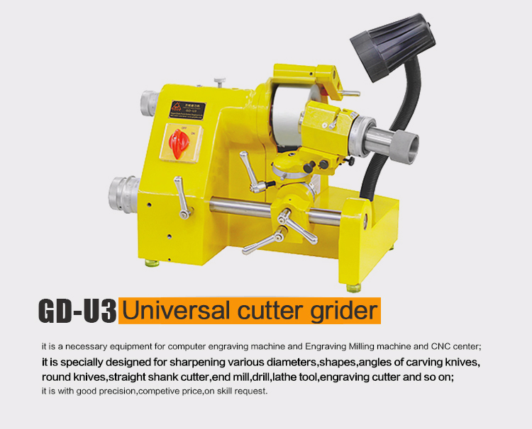 Grinding machine GD-U3 for knife tool drill bit end mill graver universal grinder