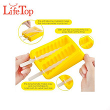 Repeated Use Plastic Popsicle Ice Cream harmless rubber ice stick