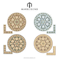 Mansour Round Polished waterjet medallion marble floor design pictures