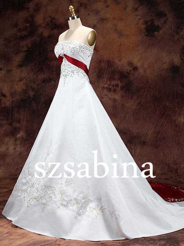 Red And White Wedding Dresses Wholesale, Wedding Dress Suppliers ...