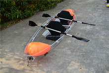 2 person transparent kayak for sale 100% PC material