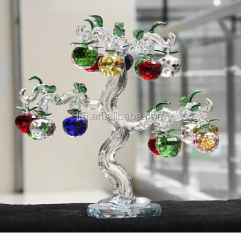 Fashion crystal apple tree for decoration crystal apple for Apple tree decoration