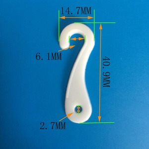 Professional supplier goods display Eco-friendly plastic small j hooks