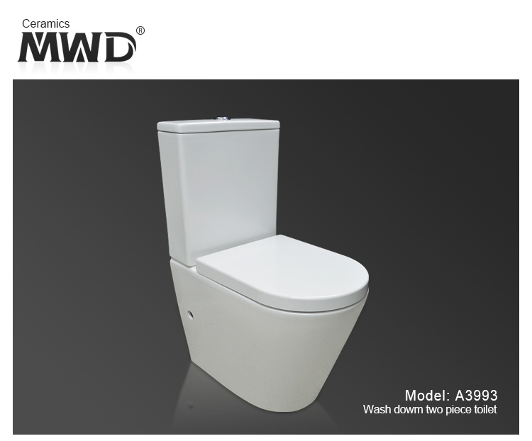 Movewayda Toilet Appliances Bowl Toilet 4 Stars White Vitreous China ...