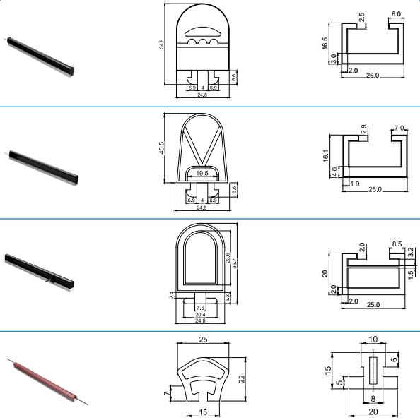Capteur anti-collision de machine d'agv de commutateur de bord de sécurité industrielle