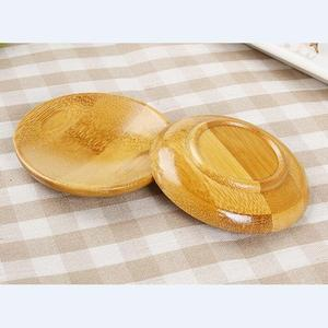 Design Round Bamboo Serving Snack Dishes Fiber Plate Made In China