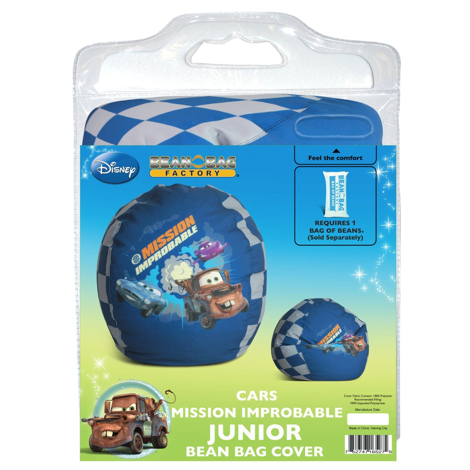 Get Quotations · Disney Cars Mission Improbable Junior Bean Bag Chair Cover
