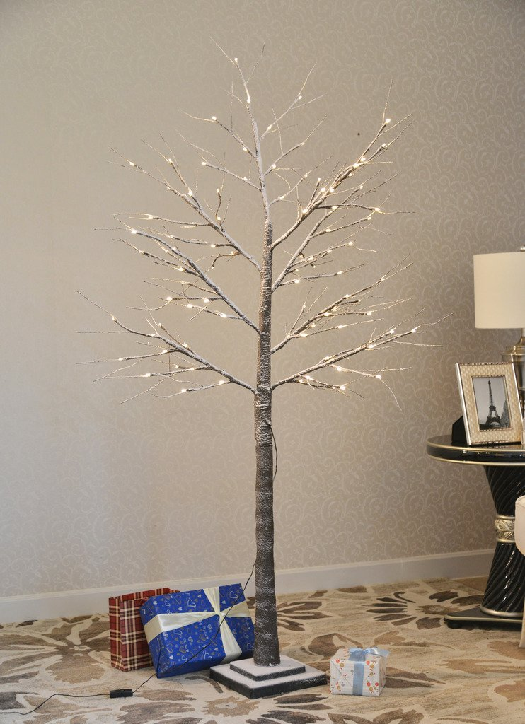 UPHA 96 LEDs Snow Tree, 6-Feet, Warm White