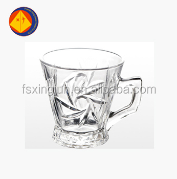 Volume Production Clean Heat Resistant Double Wall Gl Coffee Cup With Handle