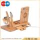 4 ports USB HUB desktop mobile phone bamboo wooden charging station,for smartphone/tablets multi functions USB charger bamboo