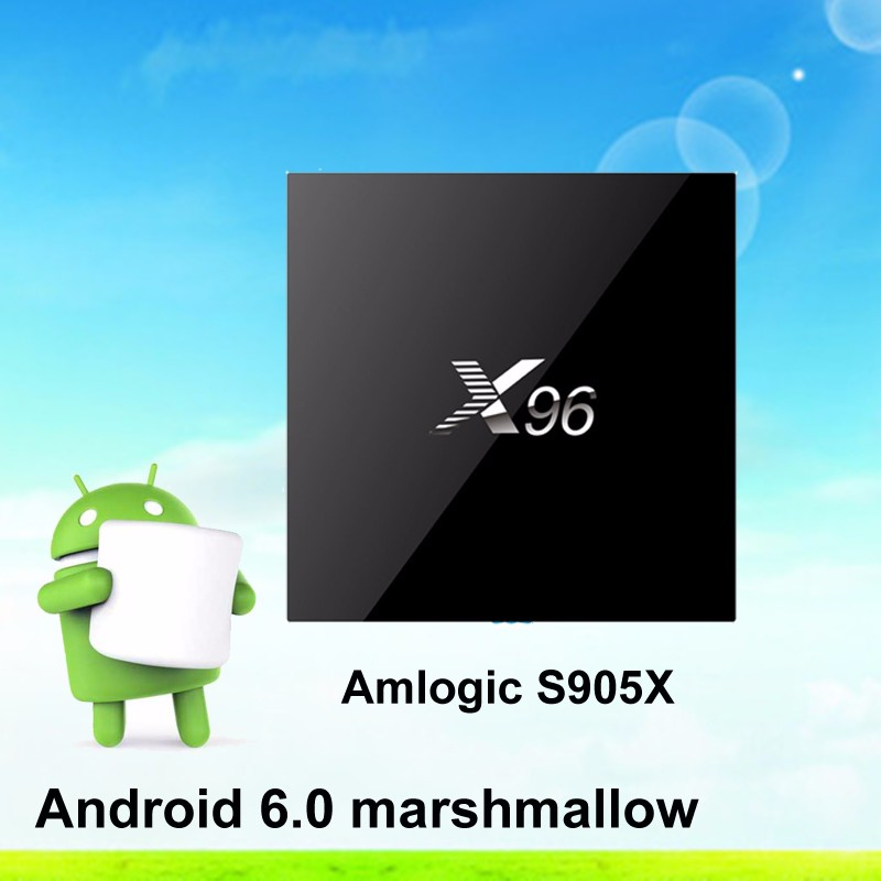 Marshmallow 6.0 <strong>Amlogic</strong> S905X Quad Core <strong>TV</strong> <strong>Box</strong> X96 full stock 1G/8G2g/16g download KODI 4K Smart Android <strong>Tv</strong> <strong>box</strong> x95 x98 s96