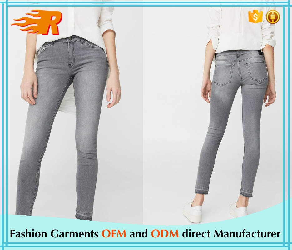 Spring Casual Wear Ladies High Waist Women Skinny Jeans With Zipper
