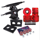 Longboard 180mm Trucks + 70mm Wheels + Bearings Combo SET Transparent / Red /...