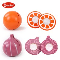 Onshine children toys new style Vegetables and Fresh Fruit Wooden Cutting Toy