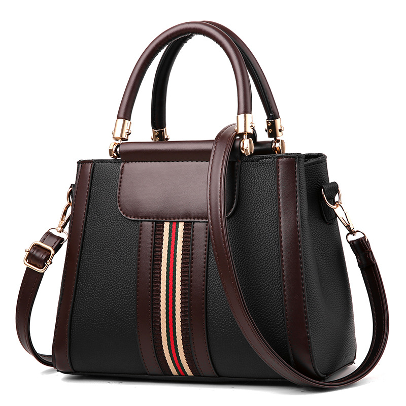 2019 lichee pattern <strong>handbag</strong> boston <strong>handbag</strong> European and American style <strong>handbags</strong> for women shoulder bags