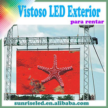 Sunrise full color p6p6.944p8p10 outdoor rental led display tv video advertising function led board, hanging install