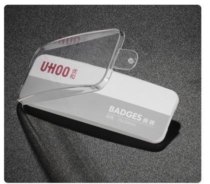 Plastic magnetic name badges