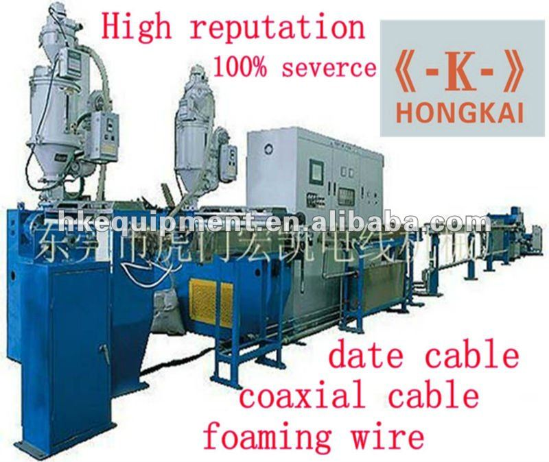 HK-65+35 physical PVC foaming production line/cable extrusion machine