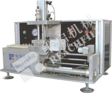 semi-automatical foam installing machine for inkjet cartridge with sponge
