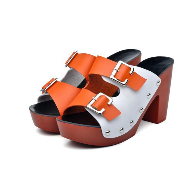 9246c8f788b36 Get Quotations · High Heel Sandals 2015 Sexy Open ToeThick Heel Sandals  Hasp Fashion Women Sandals and slippers Hollow