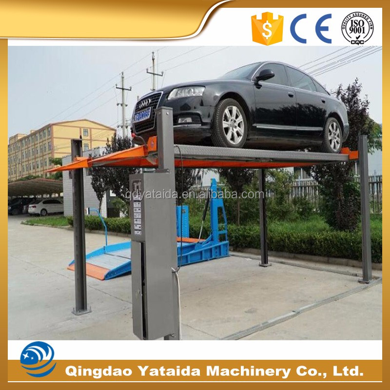 heavy duty used 4 post car lift for sale with 5T capacity