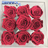 Hot Sale Preserved Fresh Cut Rose Flower Head With Acrylic Boxes