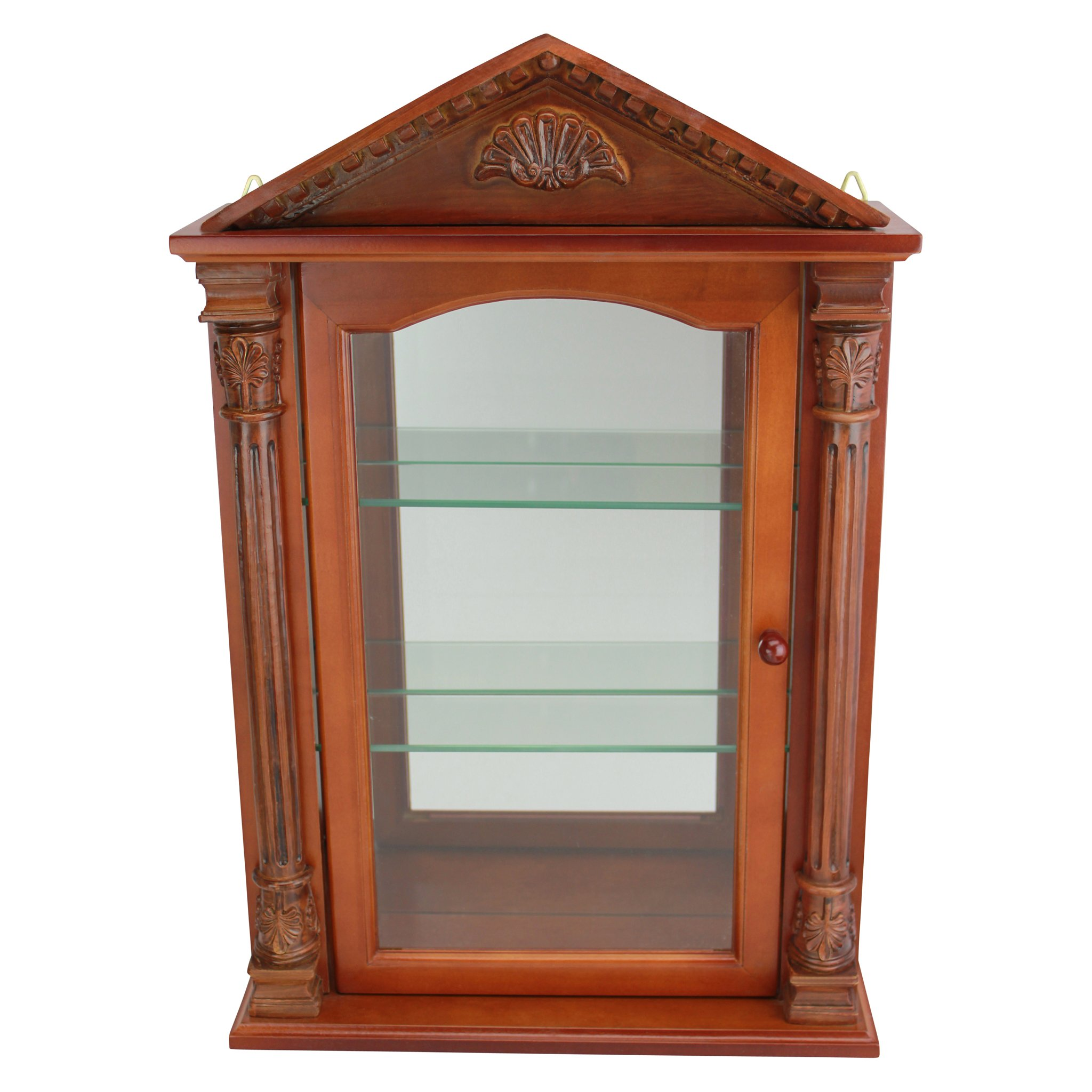 Get Quotations · Design Toscano Glass Curio Cabinets   Essex Hall   Wall  Mounted Curio Cabinet