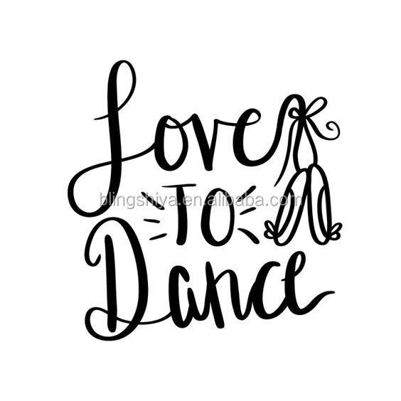 Custom Love to Dance Heat Motif Vinyl T Shirt Transfers Stickers