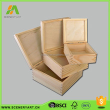 Professional design DIY wooden boxes craft wholesale