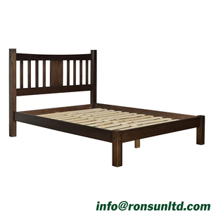 Top Quality American Style Wooden Bedroom Furniture Platform Bed