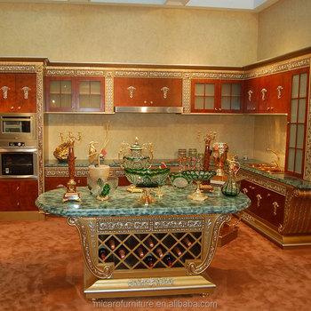 China Made Italian Antique Style Royal New Model Wood Kitchen